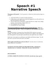 Speech #1 Narrative