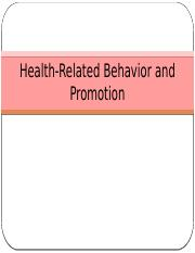 Lecture+9+-+Health-Related+Behavior+and+Promotion.pptx