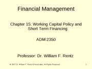 Chapter 15 Financial Management