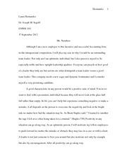 INTRAPERSONAL ESSAY