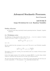 Advanced Stochastic Processes notes