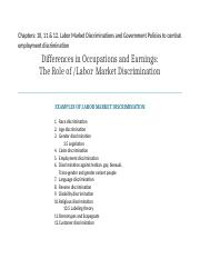 labor market discrimination and policies Chp 10 -12newtext.docx