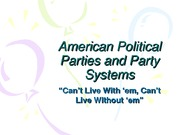 American_Political_Parties Lecture
