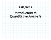 [QM] CHAPTER 01 - INTRODUCTION TO QUANTITATIVE ANALYSIS