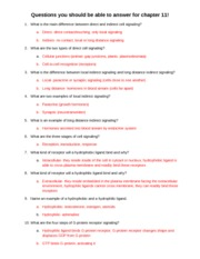 Questions you should be able to answer for chapter 11-answers