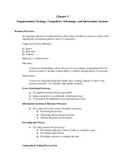 Chapter 2 Organizational Strategy, Competitive Advantage and IS.docx