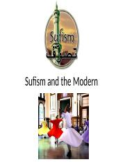 Sufism and the Modern
