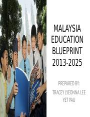Malaysiaeducationblueprint 160802053817 malaysia education malaysiaeducationblueprint 160802053817 malaysia education blueprint 2013 2025 prepared by tracey lyeonna lee yet pau offers a vision of the education malvernweather Choice Image