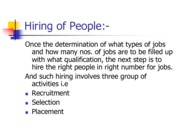 Hiring of People (Presentation)