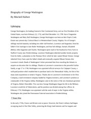 Biography of George Washington Essay