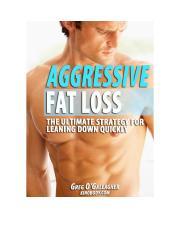 Aggressive Fat Loss 2.0 Pdf