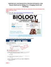 BIOPORTAL REGISTRATION INFORMATION FOR STUDENTS WHO HAVE NOT TAKEN THE 101