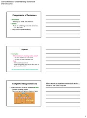 Exam 3 Understanding sentences and discourse