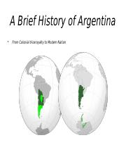Brief History of Argentina