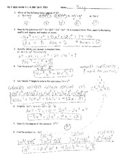 Degrees of polynomial functions with answers