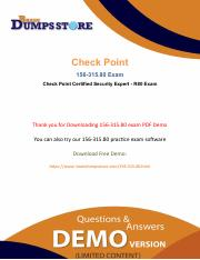How To Pass CheckPoint 156-315.80 Exam Dumps In First Attempt.pdf