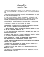 Chapter Nine - Managing State