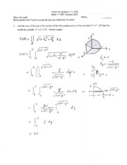 solutions Exam3 Math11 Summer 2014