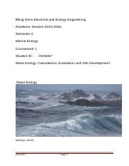Marine Energy Coursework  0315567  Appendices Embedded.docx