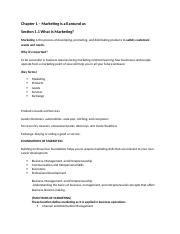 Chapter 01 Section 1.1 - Marketing Essentials Chapter 1 ...