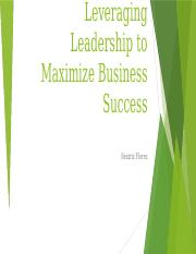Leveraging Leadership to Maximize Business Success