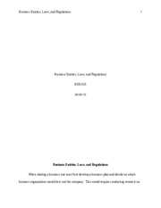 BUS415 Business, Entities, Laws, and Regulations - Copy