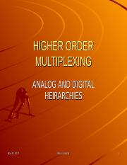 CSC207 - 8 Higher Order multiplexing (Analog & Digital Hierarchies).ppt