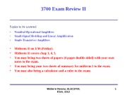 Midterm-II Review
