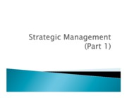 StrategicManagementPart1Fall09