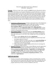 Worksheet with answers Chapter 2 - Research in the Behavioral Sciences answers.docx
