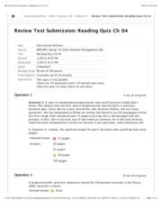 Review Test Submission: Reading Quiz Ch 04