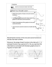 Graphs of sine & cosine notes