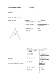 7.4 Overlapping Triangles Notes