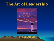 I. What does it mean to be a leader