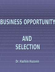 BUSINESS OPPORTUNITY Dr. Hashim.ppt