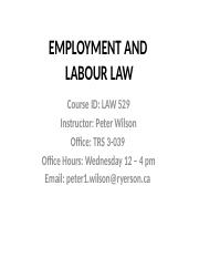 essay instructions law employment and labour law professor  78 pages employment law 529 class 7 fall 2016 j