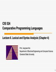 lec6-Lexical and Syntax Analysis