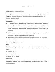 Success Speech Outline pdf
