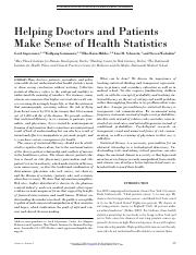 Helping Doctors and Patients Make Sense of Health Statistics-2007-Gigerenzer-53-96