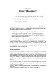 Chapter 04 - Quality Management