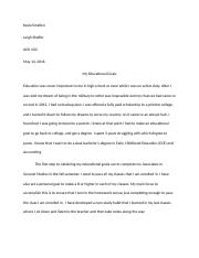 educational goals essay
