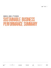 Sustainable Business Performance Summary