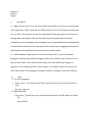 research essay alternate comparison of fences and death of a  2 pages eng 113 essay 2 outline