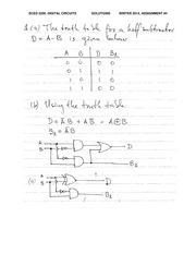 ECE 2200 Fall 2014 Assignment 4 Solutions