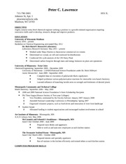Lawrence Monster Resume