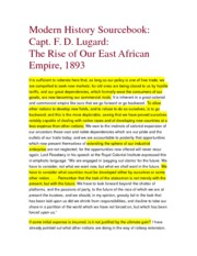 The Rise of Our East African Empire- Lagard