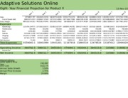Lab 3-1 Adapative Solutions Online Eight-Year Financial Projection