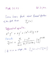 3C03 Extra notes Problems with Solutions