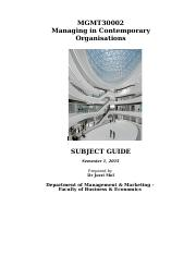 Subject Guide MGMT30002 - 2015 - Uploaded (1)