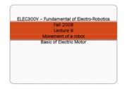 9 - Movement of a Robot Basics of Electric Motor